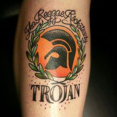 Class Trojan Records ink. Rep yer roots!