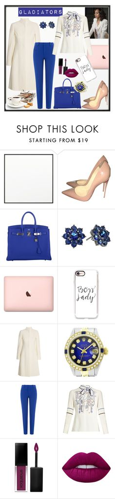 """""""Untitled #310"""" by blackparrott ❤ liked on Polyvore featuring By Lassen, Christian Louboutin, Hermès, Nina, Casetify, Alexander McQueen, Rolex, Roland Mouret, Peter Pilotto and Smashbox"""