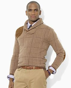 Polo Ralph Lauren Long-Sleeved Cotton-Cashmere Shawl Pullover | Bloomingdale's
