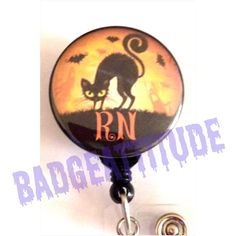 Personalized Halloween Badge Reel ID Holder. by BadgeAttitude, $8.00