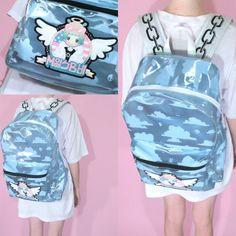 MILKBBI Clear Blu Camo Sky backpack that i really want
