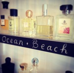 Ocean and Beach selections at Scent Bar from Keiko Mecheri, Carthusia, Profumum, Heeley, and Profumi del Forte. #niche #perfume #luckyscent