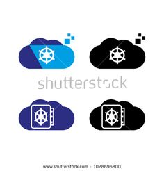 A set of cloud icons