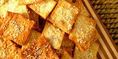 Nothing beats homemade, especially when it comes to crackers! Great for a snack, lunches or a party spread.
