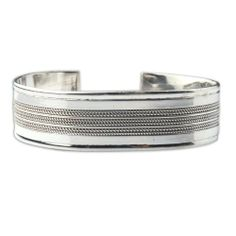 Amazon.com: Jewelry From India Sterling Silver Arm Bracelet Dia 2.5 Inches: ShalinCraft: Jewelry