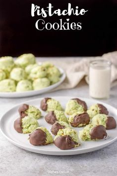 This is my delicious, melt in your mouth, moist, soft cream cheese pistachio cookies recipe for everyone to enjoy. They are my most requested cookie and so addicting! #cookies #holidaycookies #pistachio #dishesdelish Pistachio Cookies, Pistachio Pudding, Hazelnut Cookies, Apple Cookies, Holiday Cookies, Sugar Cookies, Cream Cheese Cookies, Cookies And Cream, Sweets Recipes