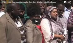 Video:ODM's two-day meeting ends, Sec Gen Ababu notably absent