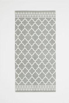 Vzorovaný bavlnený koberček - sivá - HOME | H&M SK 1