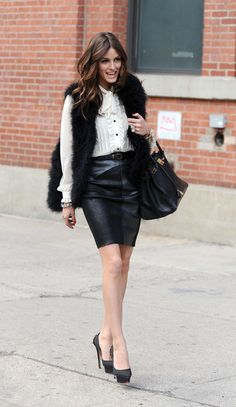 Olivia Palermo Photos Photos: Olivia Palermo in the Meatpacking District Fall Fashion Outfits, Love Fashion, Fashion Design, Fur Fashion, Sexy Rock, Olivia Palermo Style, Style Guides, Autumn Winter Fashion, Style Icons