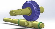 Worm gear and pinion assembly - SOLIDWORKS,STEP / IGES - 3D CAD model - GrabCAD