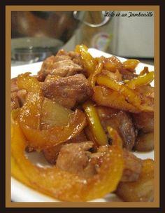 Sauté de dinde à l'ananas, soja et gingembre et riz aux fruits secs (5)