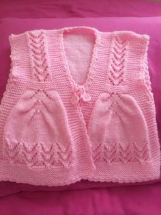 Baby Vest Knit Baby Dress Knitted Baby D - maallure Knitting For Kids, Baby Knitting Patterns, Lace Knitting, Baby Patterns, Knit Crochet, Knit Lace, Toddler Sweater, Knit Baby Sweaters, Baby Pullover