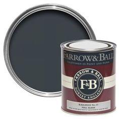 Farrow & Ball Railings No.31 Gloss Paint 0.75L
