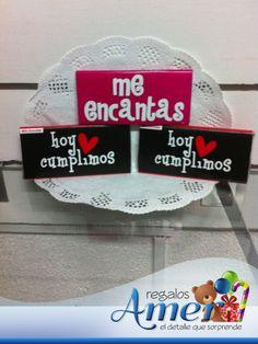 Deliciosos chocolates con mensaje, con amor, en Regalos Amer.