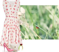 """ladybug"" by anna-ruchkina ❤ liked on Polyvore"