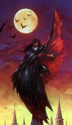 Red Batman by soanvalentine. on - Red Batman by soanvalentine.dev… on - Dc Comics Funny, Batman Comics, Anime Comics, Dc Batgirl, Batwoman, Fantasy Paintings, Fantasy Art, Final Fantasy, Red Batman