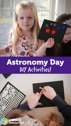 DIY Astronomy Day Activities - if your kids love stars, check out these simple DIY astronomy activities for kids, and things you can observe in the night sky without a telescope Educational Activities For Preschoolers, Science Activities, Learning Resources, Fun Learning, Preschool Activities, Nature Activities, Science Ideas, Science Experiments, Stem For Kids