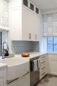 Ogee drop back splash-Eclectic Undercurrents   Installation Gallery   Fireclay Tile