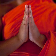 Hands of a praying monk - Laos