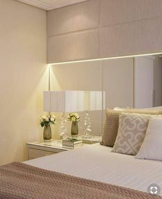 Elegant Interior Designs ∘・゚ Home Bedroom, Modern Bedroom, Bedroom Furniture, Bedroom Decor, Plafond Design, Suites, Bedroom Colors, Room Inspiration, House Design