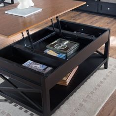 Belham Living Hampton Storage and Lift Top Coffee Table