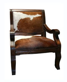 Salamanca Den Chair with hair on hide