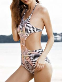 SHARE & Get it FREE | High-Neck One-Piece Striped Swimwear - WhiteFor Fashion Lovers only:80,000+ Items • New Arrivals Daily Join Zaful: Get YOUR $50 NOW!