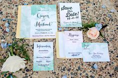 GORGEOUS Watercolor Invitations...inspired by the 1970's  seen on ruffledblog.com