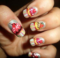 Cute Cupcake Nails! - Uñas de Magdalenas  Tutorial: http://youtu.be/a7D4Ne1Fvko