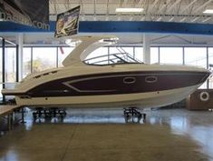 2013 Chaparral 327 SSX NEW!   It is part family bowrider, part performance-minded sport boart, and part overnight cruiser. Fiberglass hardtop, liquid-silver interior, dual forward facing helm seats, and practical full beam cabin make this 327 a game changer!