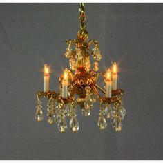 Quality Artisan Made Dollhouse Miniatures Artisan, Chandelier, Table Lamp, Miniatures, Ceiling Lights, Lighting, Scale, Handmade, Beautiful
