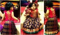 Dressing Up Your Little Fashionista For Weddings! Frocks For Girls, Dresses Kids Girl, Girl Outfits, Baby Dresses, Infant Dresses, Peasant Dresses, Dress Girl, Kids Indian Wear, Kids Ethnic Wear