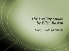 the-westing-game-chapter-questions by Little Flower Catholic School via Slideshare