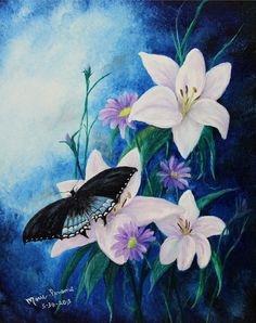 Hey, I found this really awesome Etsy listing at https://www.etsy.com/il-en/listing/238193818/butterfly-lilly-flowers-floral-original