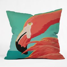 Anderson Design Group Tropical Flamingo Outdoor Throw Pillow | DENY Designs Home Accessories