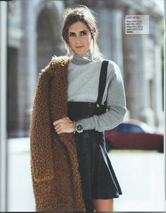 Gala and this coat I Love Fashion, Fashion Show, Gala Gonzalez, Teddy Bear Coat, What To Wear, Normcore, High Neck Dress, Street Style, Couture