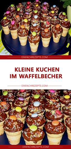Kleine Kuchen im Waffelbecher 😍 😍 😍 😍 cupcakes anniversaire decoration licorne noël recette recipes cupcakes Easy Cake Recipes, Fish Recipes, Cookie Recipes, Dessert Recipes, Cupcake Recipes, Pumpkin Spice Cupcakes, Oreo Cupcakes, Small Cake, Fall Desserts
