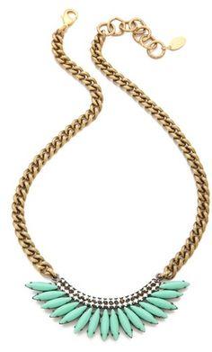 Elizabeth Cole Gold Mohawk Necklace