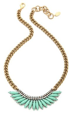 Elizabeth Cole Gold Mohawk Necklace