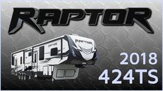 2018 Keystone Raptor 424TS Toy Hauler RV For Sale TerryTown RV Superstore Check out 2018 Raptor 424TS now at http://ift.tt/2yFByxx or call TerryTown RV today at 616-426-6407!  For the perfect combination of cargo carrying capabilities and high-end luxury check out this 2018 Raptor 424TS toy hauler from TerryTown RV!  This large Raptor toy hauler has Oxford Gray high-gloss exterior sidewalls and two electric awnings with LED lights. The stunning front end cap has Max Turn Technology and sharp…