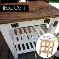 Fabulous rework on an inexpensive kitchen cart from Ikea. I want to do this with our butcher block table & our ikea coffee cart - - to make them seem like they match. Furniture Projects, Furniture Makeover, Home Projects, Diy Furniture, Ikea Makeover, Furniture Plans, Ikea Kitchen Furniture, Furniture Movers, Painting Furniture