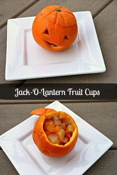 A naked and cute treat for Halloween! You'll only need oranges and fruit!