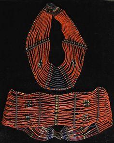 The Deborah Garner Collection - Naga Beaded Belt and Necklace Set, Nagaland