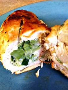 Blogghetti: Broccoli and Swiss Cheese Stuffed Chicken Breasts