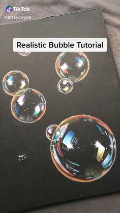 How to draw bubbles with colored pencils So pretty 3d Art Drawing, Art Drawings Sketches Simple, Pencil Art Drawings, Drawings On Black Paper, Drawings With Colored Pencils, Eye Drawings, Horse Drawings, Canvas Painting Tutorials, Diy Canvas Art