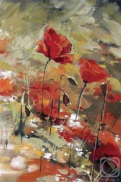 Red Poppies. The artworks. Sterkhov Konstantin . Artists. Paintings, art gallery, russian art