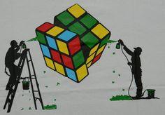 The Rubik's Cube - it's an art piece.