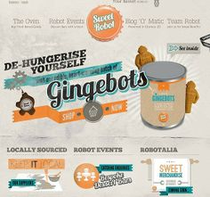 Sweet Robot - CoolHomepages Web Design Gallery