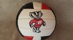 University of Wisconsin BUCKY BADGER Mini VOLLEYBALL #BadgerVolleyball #LetsGoRed #WisconsinBadgers