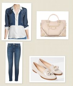 Shirt: Equitment Jeans:  Bag: Balenciaga  Shoes: Zara